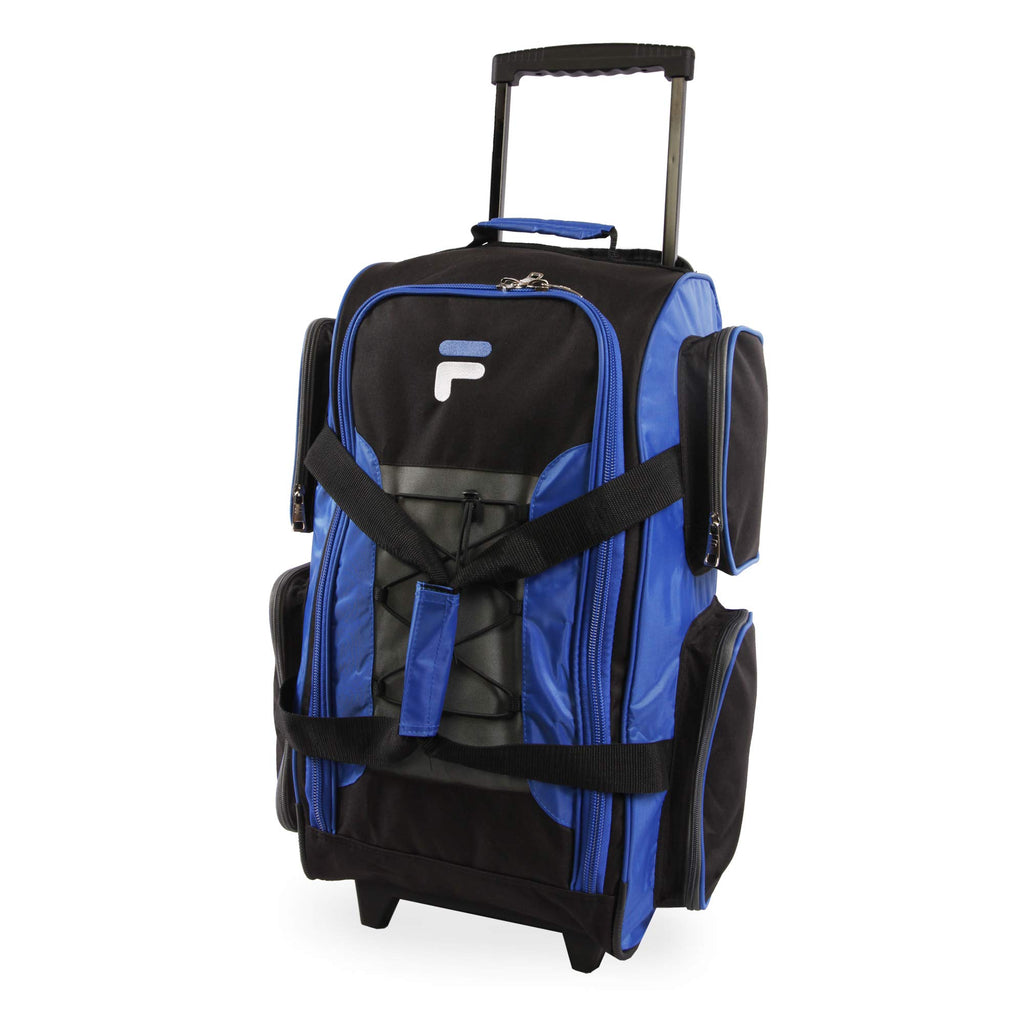 "Fila 22"" Lightweight Carry On Rolling Duffel Bag,  Blue,  One Size - backpacks4less.com"