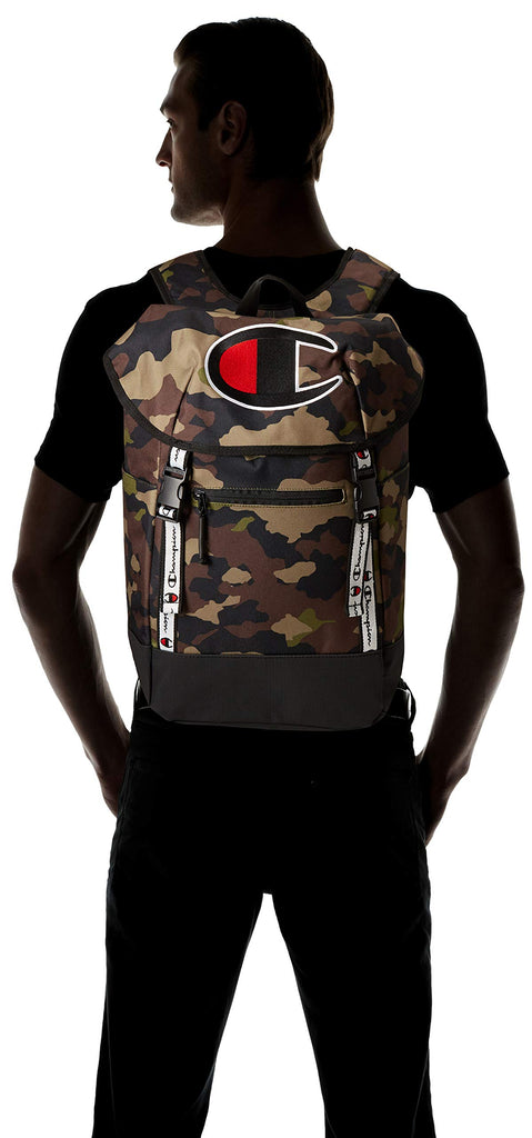 Champion Men's Top Load Backpack, Woodland camo, One Size - backpacks4less.com