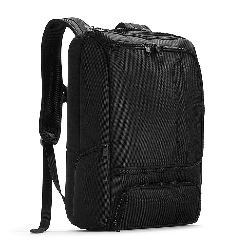eBags Professional Slim Laptop Backpack for Travel, School & Business - Fits 17 Inch Laptop - Anti-Theft - (Solid Black) - backpacks4less.com