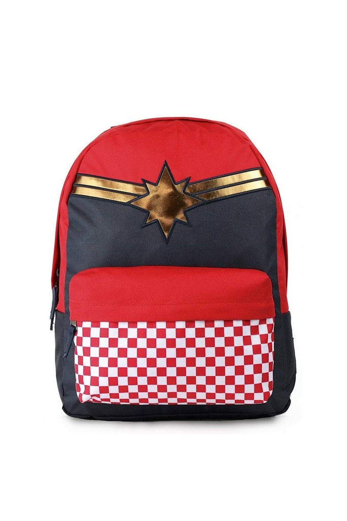 Vans CAPTAIN MARVEL Backpack Racing Red Schoolbag VN0A3QXFIZQ Vans MARVEL Bags - backpacks4less.com