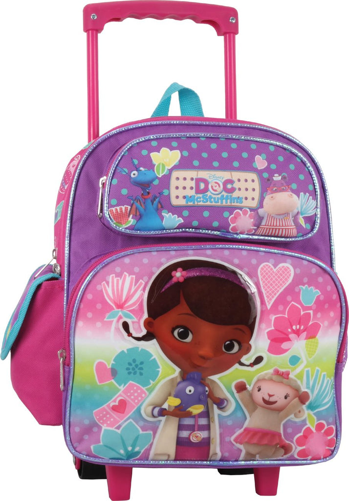 Doc McStuffins 12 inch Toddler Rolling Backpack - backpacks4less.com