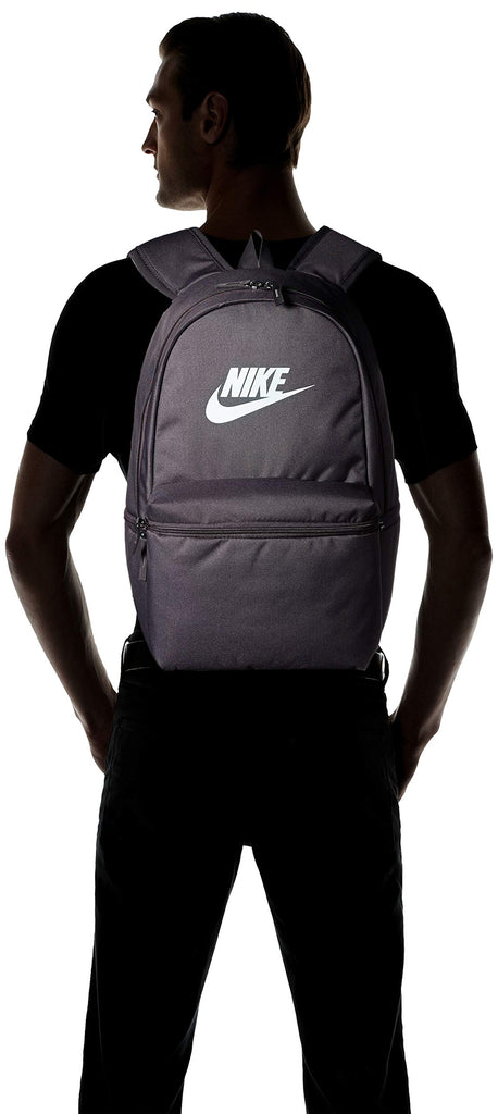 NIKE Heritage Backpack, Thunder Grey/Thunder Grey/Teal, Misc - backpacks4less.com