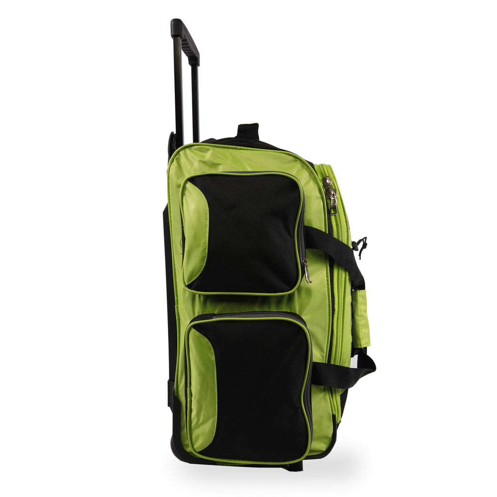 "Fila 22"" Lightweight Carry On Rolling Duffel Bag,  Neon Lime,  One Size - backpacks4less.com"