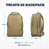 YETI Tocayo 26 Backpack, Black - backpacks4less.com