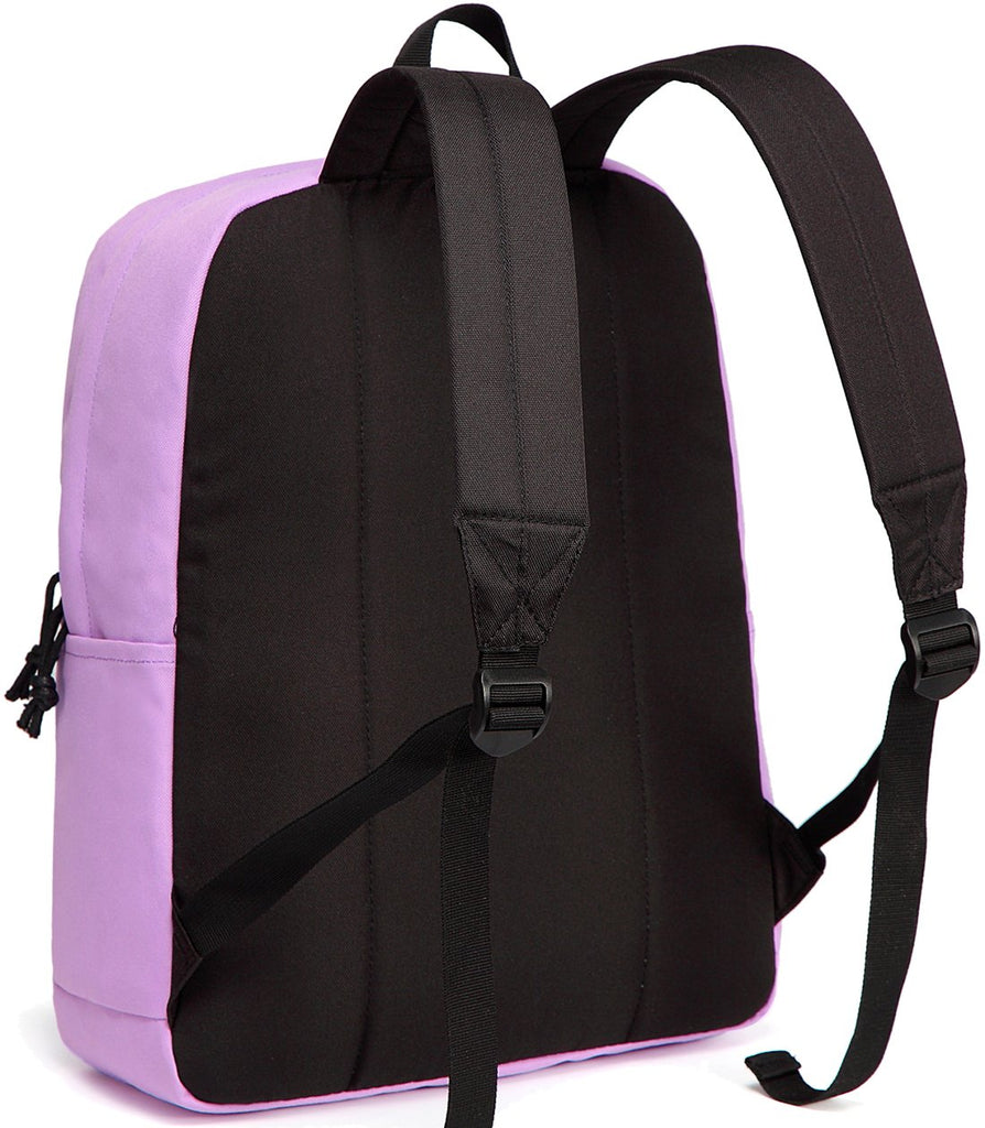 Lightweight Backpack for School, VASCHY Classic Basic Water Resistant Casual Daypack for Travel with Bottle Side Pockets (Orchid) - backpacks4less.com