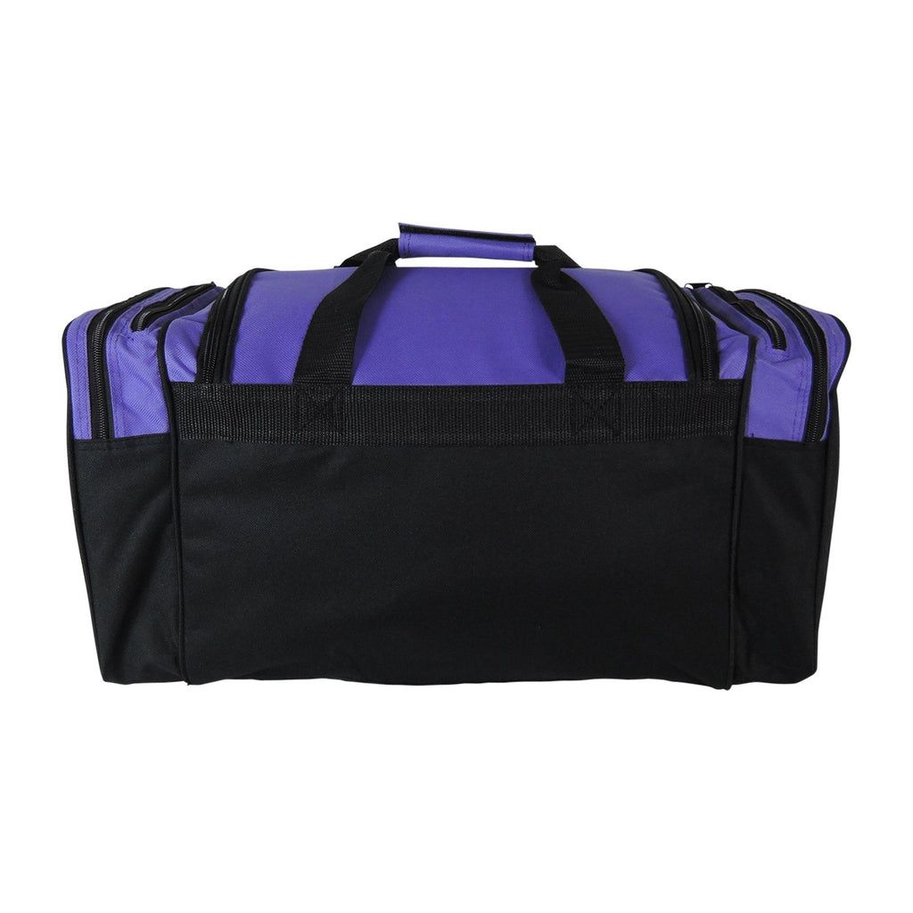Dalix 20 Inch Sports Duffle Bag with Mesh and Valuables Pockets, Purple - backpacks4less.com