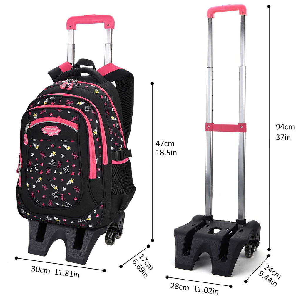 Rolling Backpack, Fanspack Backpack with Wheels for Girls or Boys - backpacks4less.com