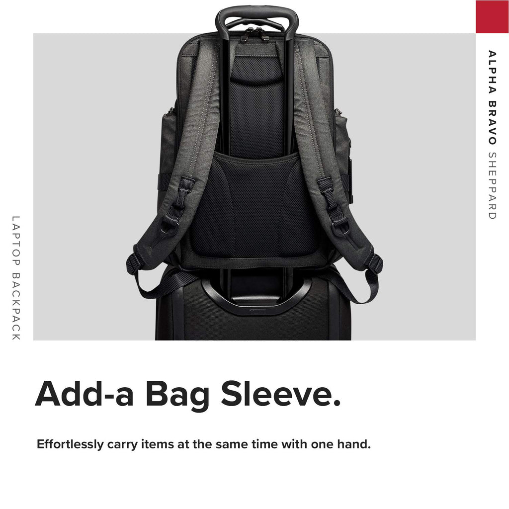 TUMI - Alpha Bravo Sheppard Deluxe Brief Pack Laptop Backpack - 15 Inch Computer Bag for Men and Women - Graphite - backpacks4less.com