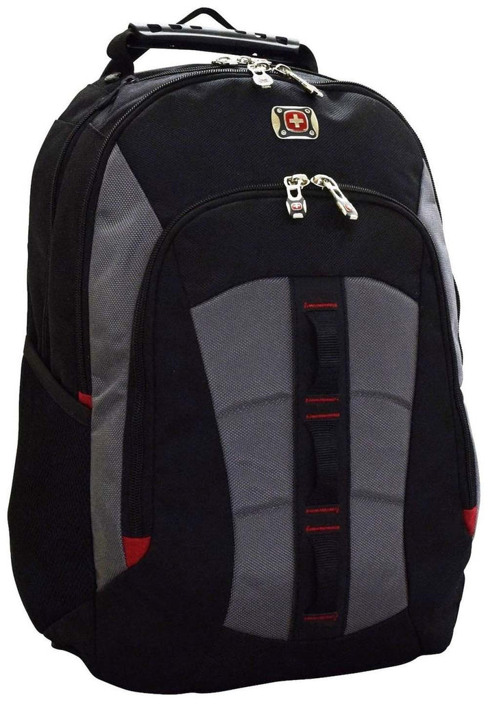 SwissGear Skyscraper Backpack with Laptop Compartment (Black/Grey) - backpacks4less.com