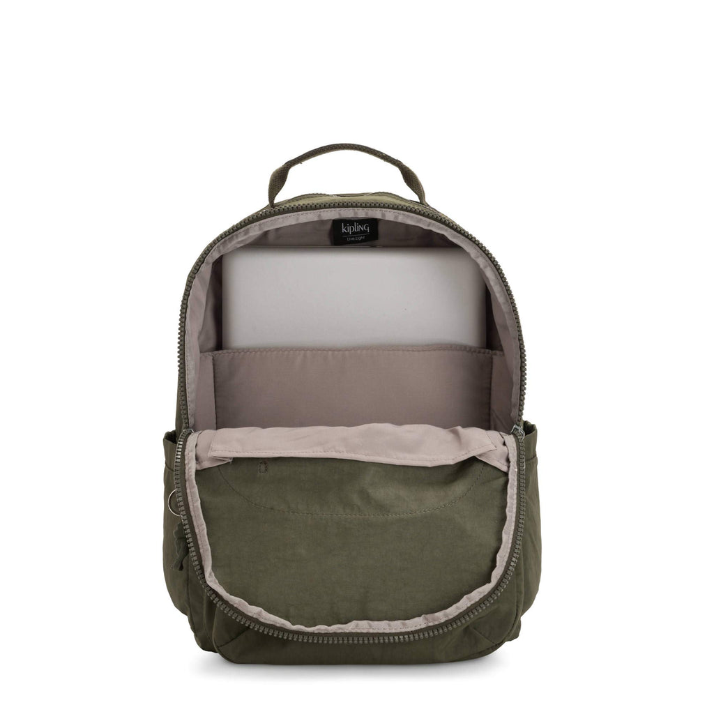 "Kipling Seoul Large 15"" Laptop Backpack Jaded Green Rm - backpacks4less.com"