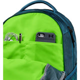 Under Armour Hustle 4.0 Backpack, Teal Vibe (417)/Lime Light, One Size Fits All - backpacks4less.com