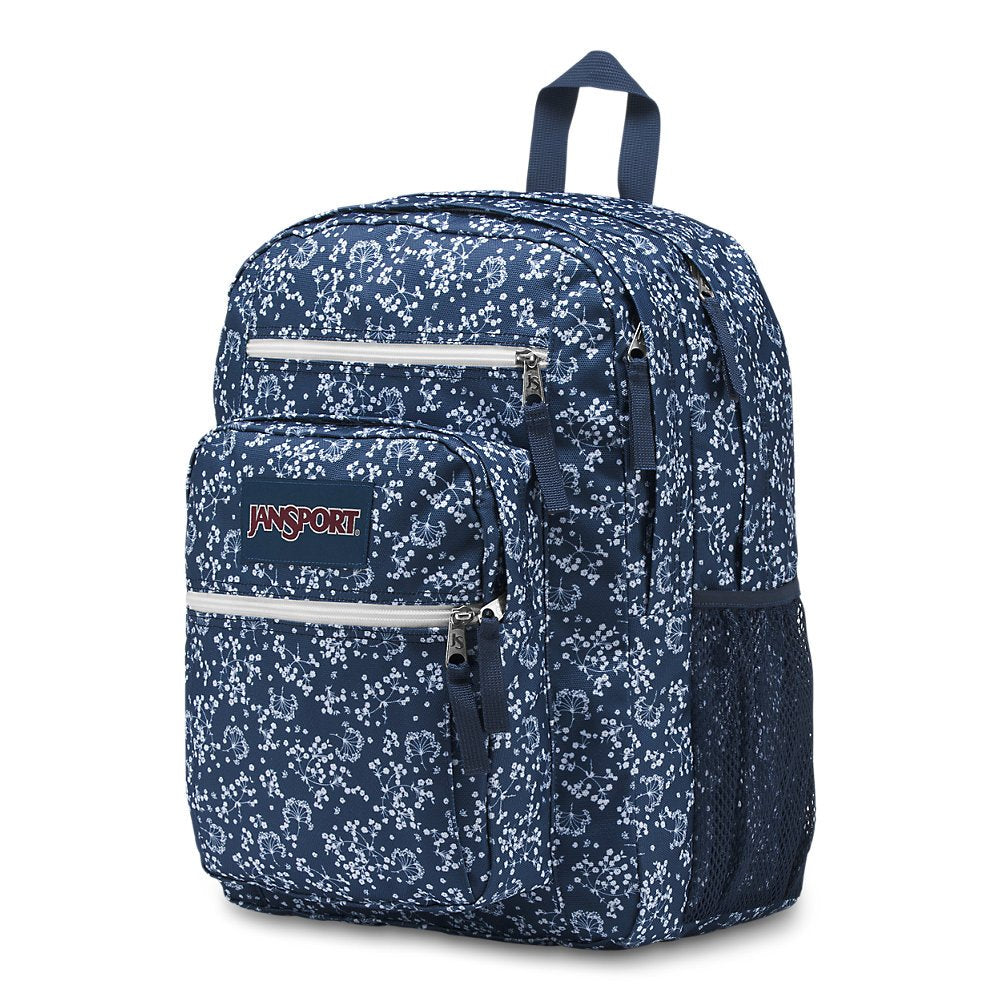 JanSport Big Student Backpack - Navy Field Floral - Oversized - backpacks4less.com