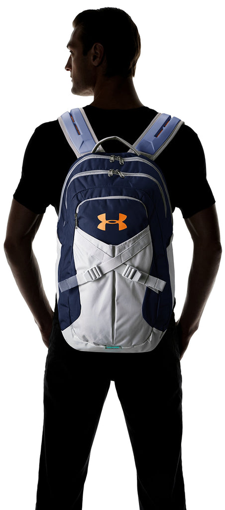 Under Armour Recruit 2.0 Backpack, One Size Fits All, Academy (408)/Magma Orange - backpacks4less.com