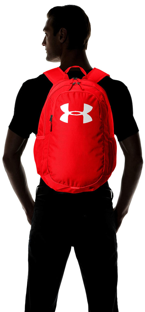 Under Armour Unisex Scrimmage Backpack 2.0, Red (600)/White, One Size Fits All - backpacks4less.com