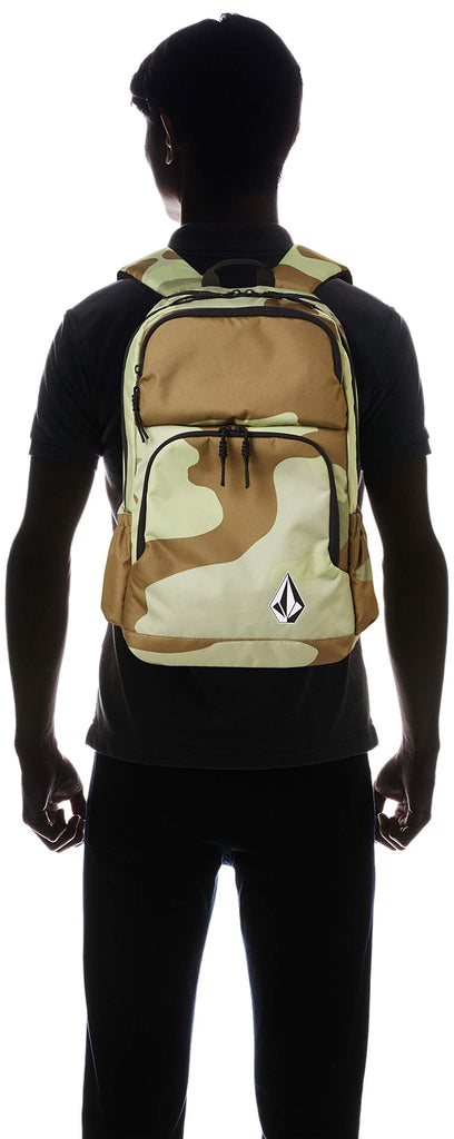 Volcom Men's Roamer Backpack, Army, One Size Fits All - backpacks4less.com