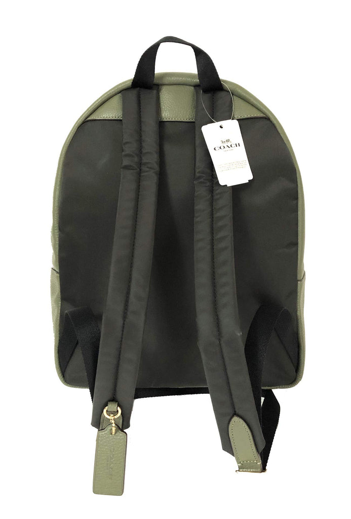 Coach F30550 Medium Charlie Backpack (IM/Military Green) - backpacks4less.com