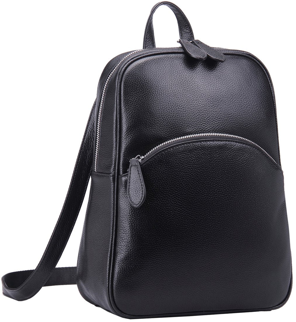 Heshe Women's Casual Leather Backpack Daypack for Ladies - backpacks4less.com