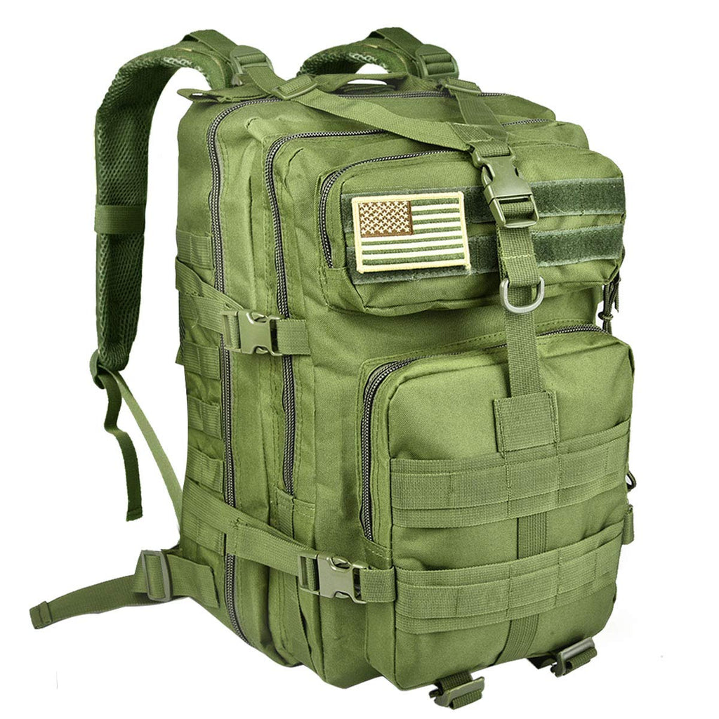 NOOLA Military Tactical Backpack Large Army 3 Day Assault Pack Molle Bag Green - backpacks4less.com