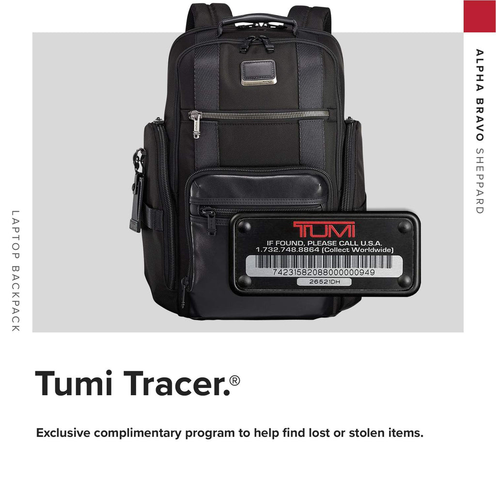 TUMI - Alpha Bravo Sheppard Deluxe Brief Pack Laptop Backpack - 15 Inch Computer Bag for Men and Women - Black - backpacks4less.com
