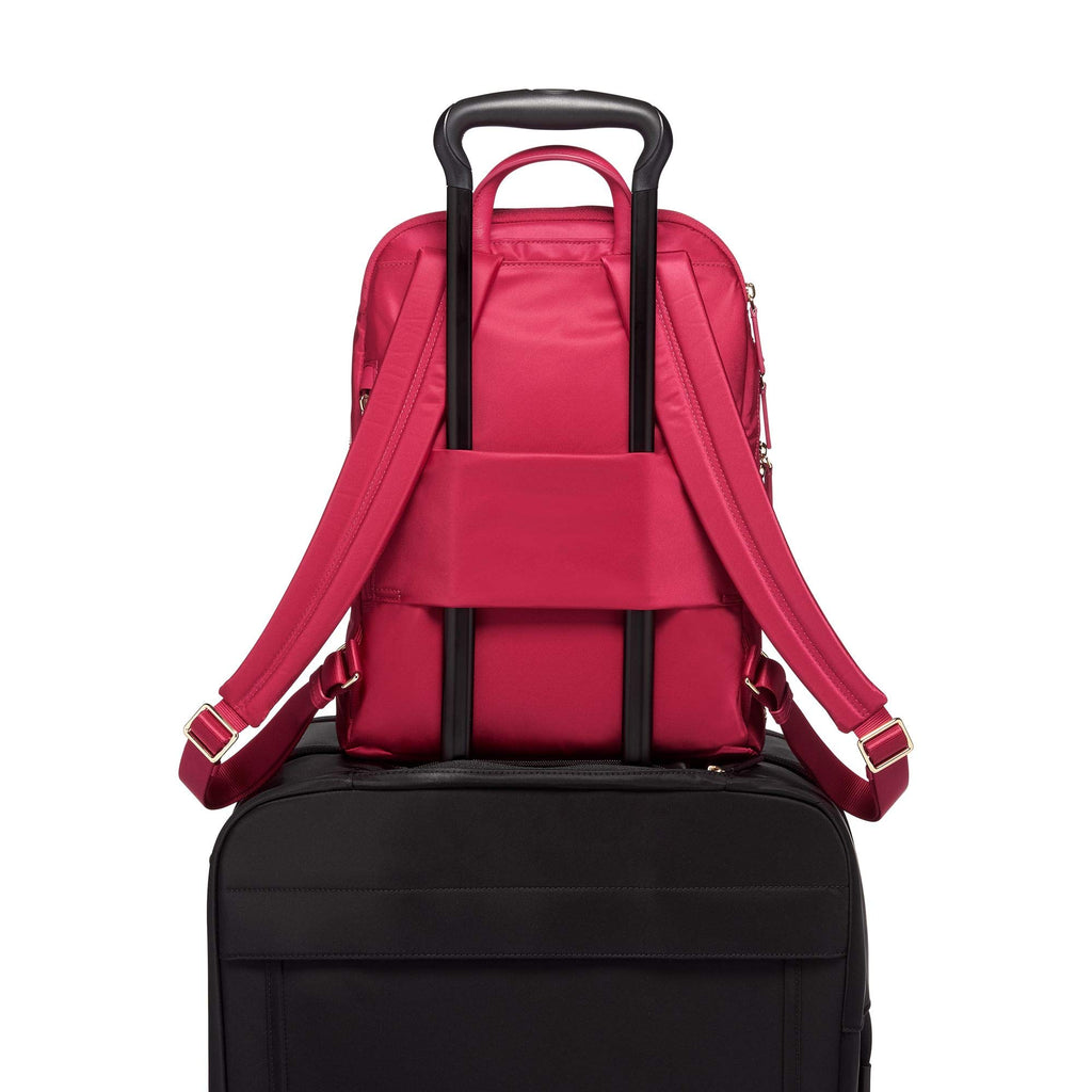 TUMI - Voyageur Hartford Laptop Backpack - 13 Inch Computer Bag For Women - Raspberry - backpacks4less.com