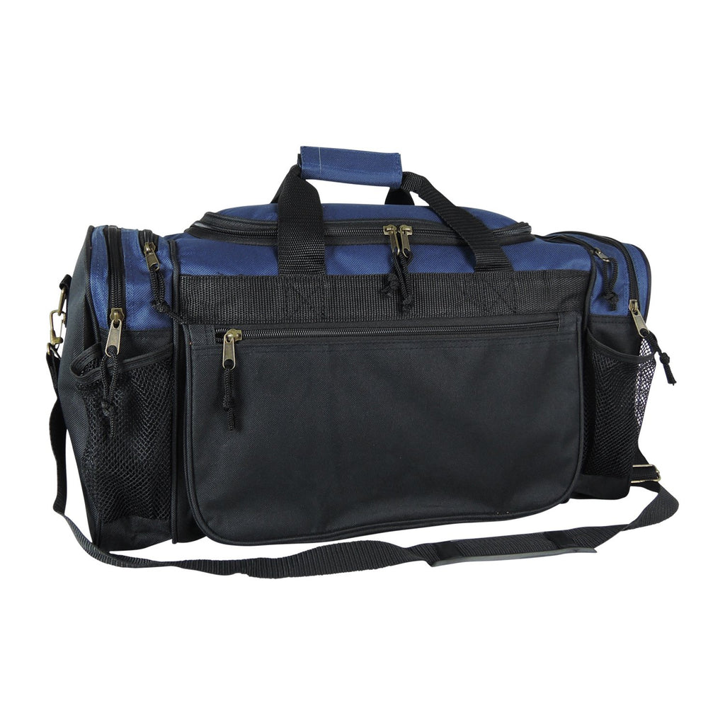 Dalix 20 Inch Sports Duffle Bag with Mesh and Valuables Pockets, Navy Blue - backpacks4less.com