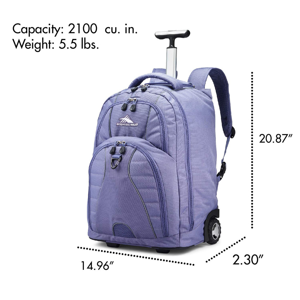 High Sierra Freewheel Wheeled Laptop Backpack, 15-inch Student Laptop Backpack - backpacks4less.com