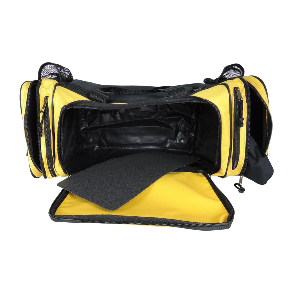 Dalix 20 Inch Sports Duffle Bag with Mesh and Valuables Pockets, Gold - backpacks4less.com
