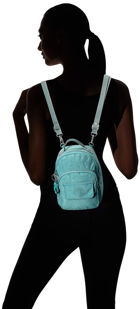 Kipling womens Alber 3-In-1 Convertible Mini Backpack, Aqua Frost, One Size - backpacks4less.com