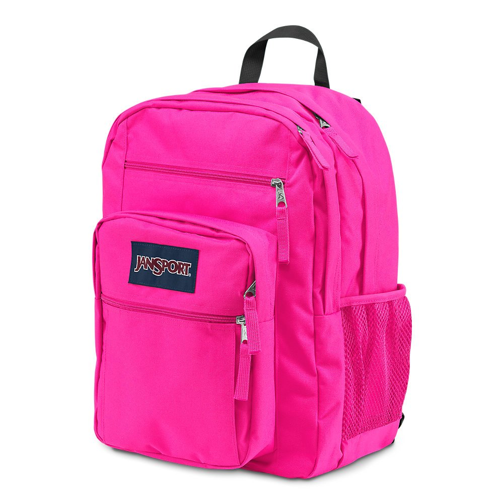 JanSport Big Student Backpack - Ultra Pink - Oversized - backpacks4less.com
