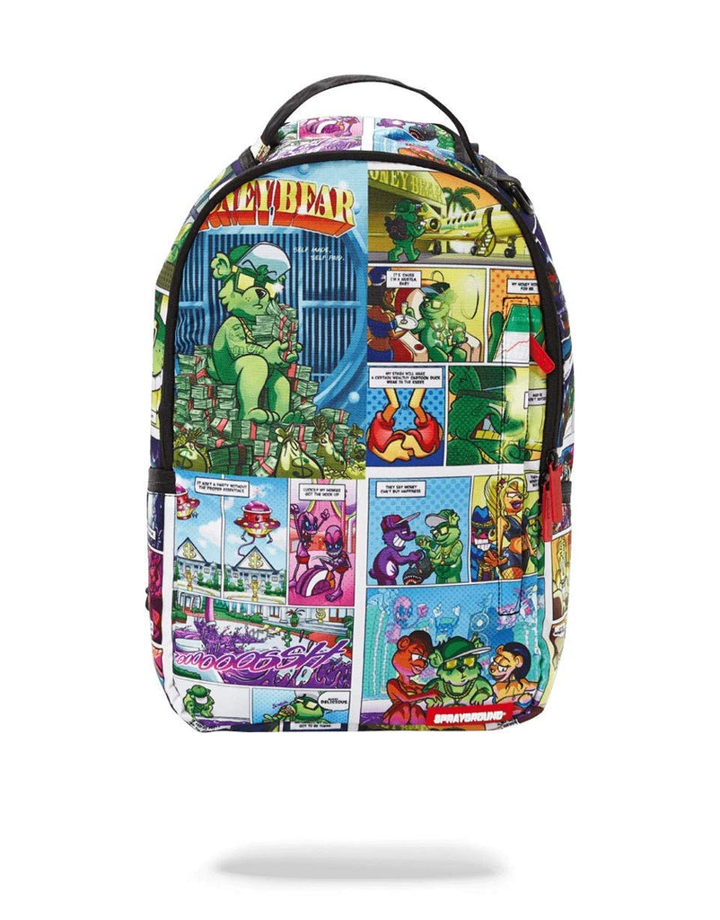 SPRAYGROUND BACKPACK MONEY BEAR COMIC - backpacks4less.com