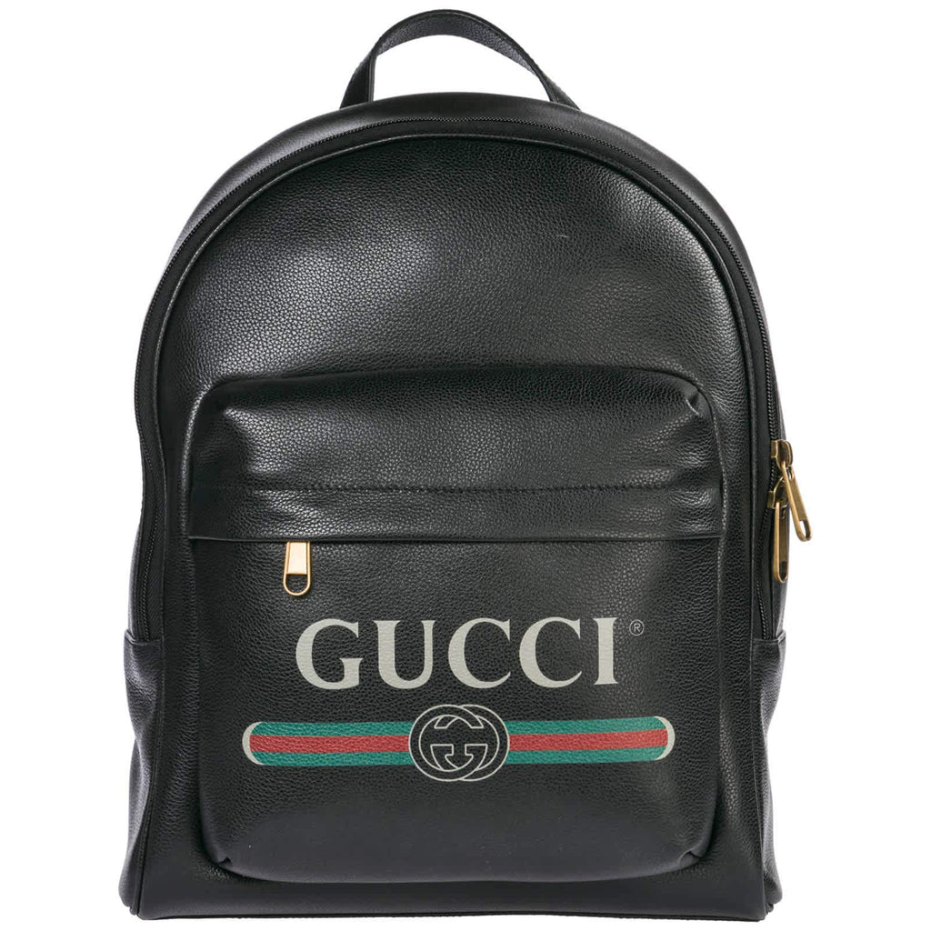 Gucci Print Leather Backpack - backpacks4less.com