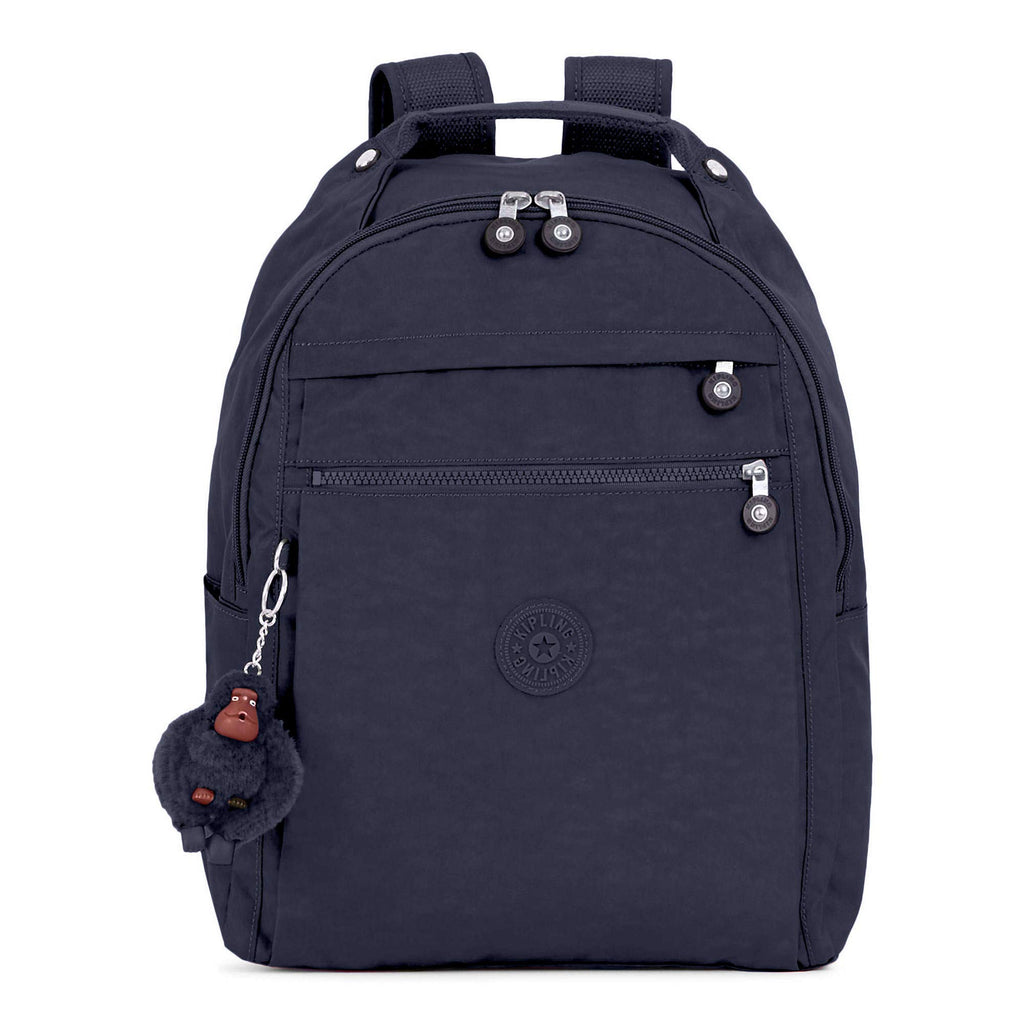 "Kipling Micah Medium 15"" Laptop Backpack True Blue 3 - backpacks4less.com"