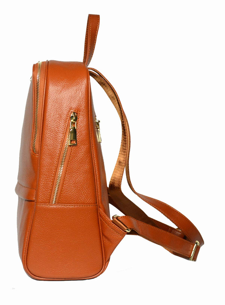 Coolcy Hot Style Women Real Genuine Leather Backpack Fashion Bag (Dark Brown) - backpacks4less.com