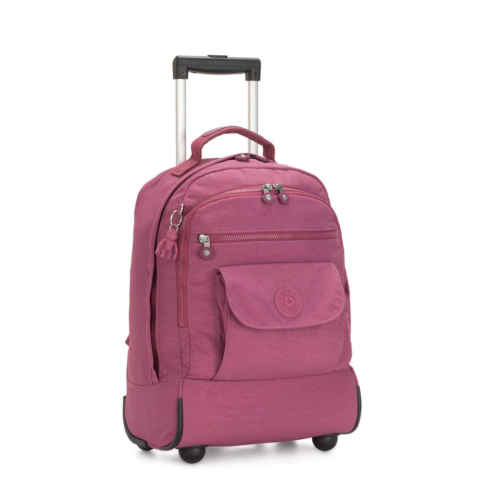 Kipling Sanaa Large Rolling Backpack Fig Purple - backpacks4less.com