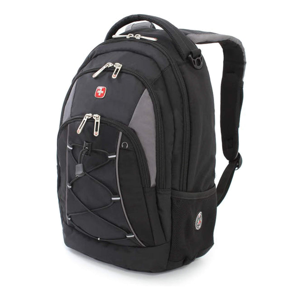 Swiss Gear Bungee Backpack, Black/Grey, One Size - backpacks4less.com