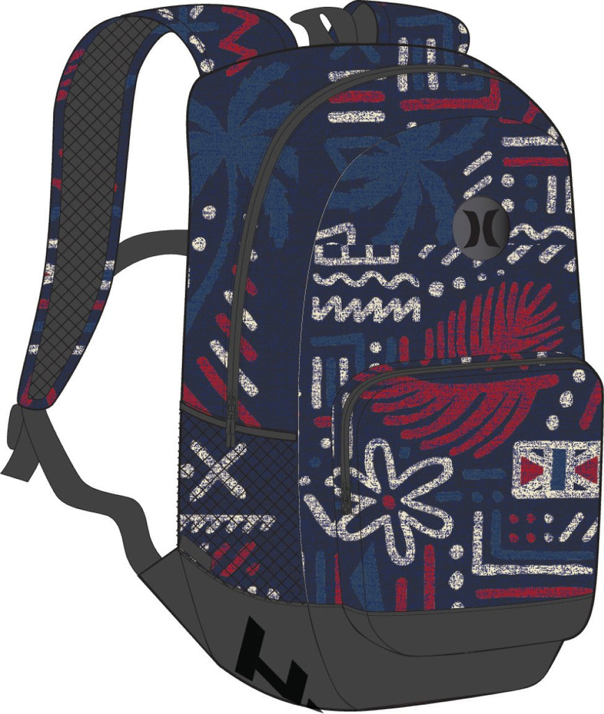 Hurley Blockade II Honu 21L Backpack - Obsidian - backpacks4less.com