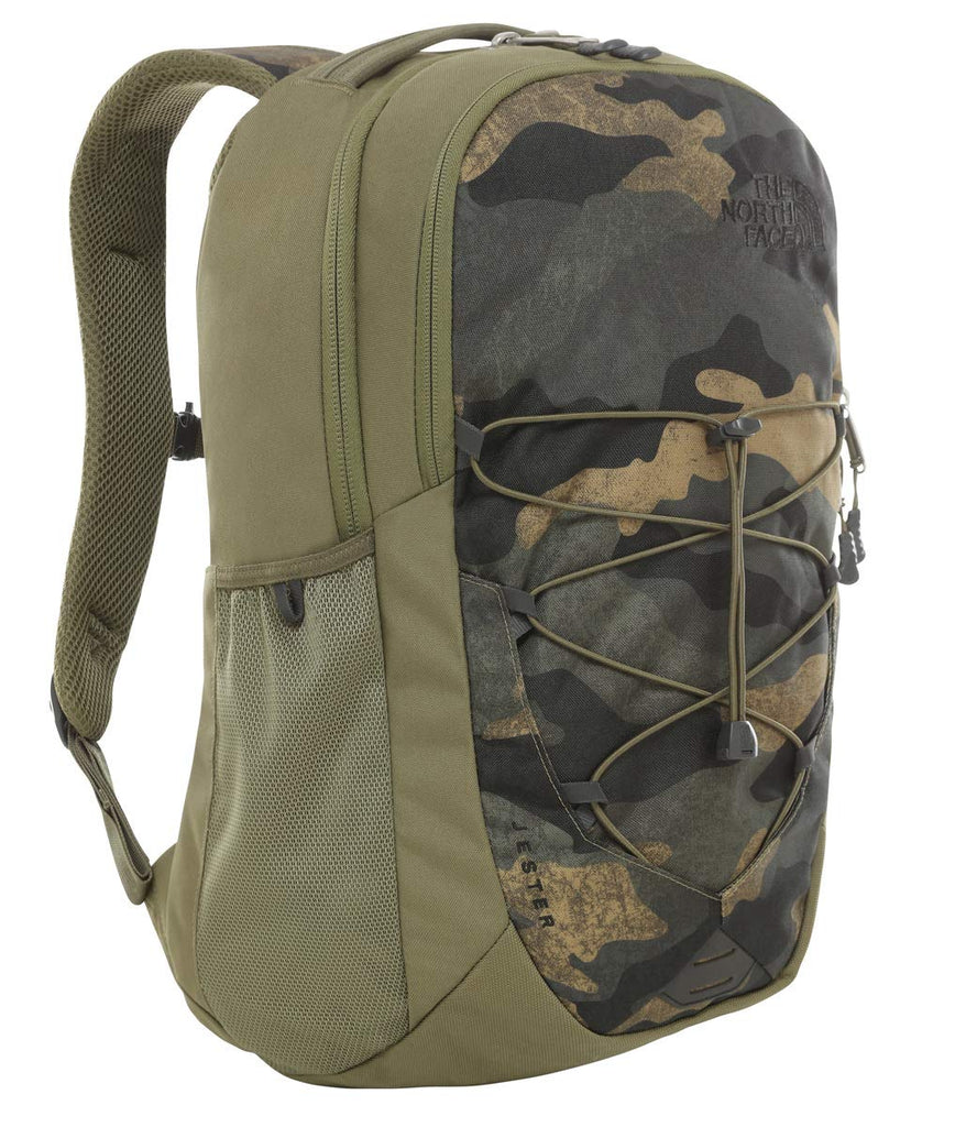 The North Face Jester Backpack, Burnt Olive Green Waxed Camo Print/Burnt Olive Green - backpacks4less.com