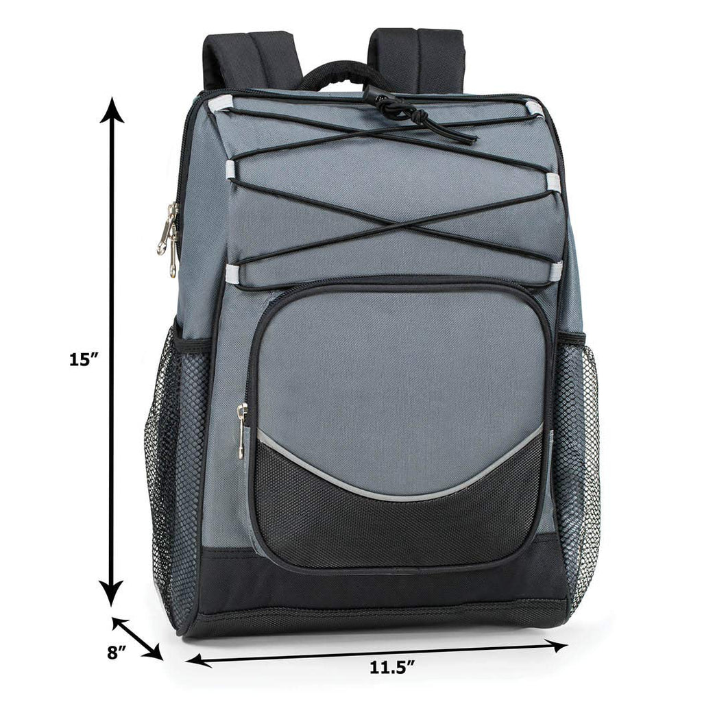 Backpack Cooler Backpack Insulated, Hiking Backpack Coolers, Travel Backpack Great Soft Cooler Bag for Backpacking, Camping, Picking Bag, Beach Bag, Lunch Bag for Women and Men, Holds 20 cans Gray - backpacks4less.com