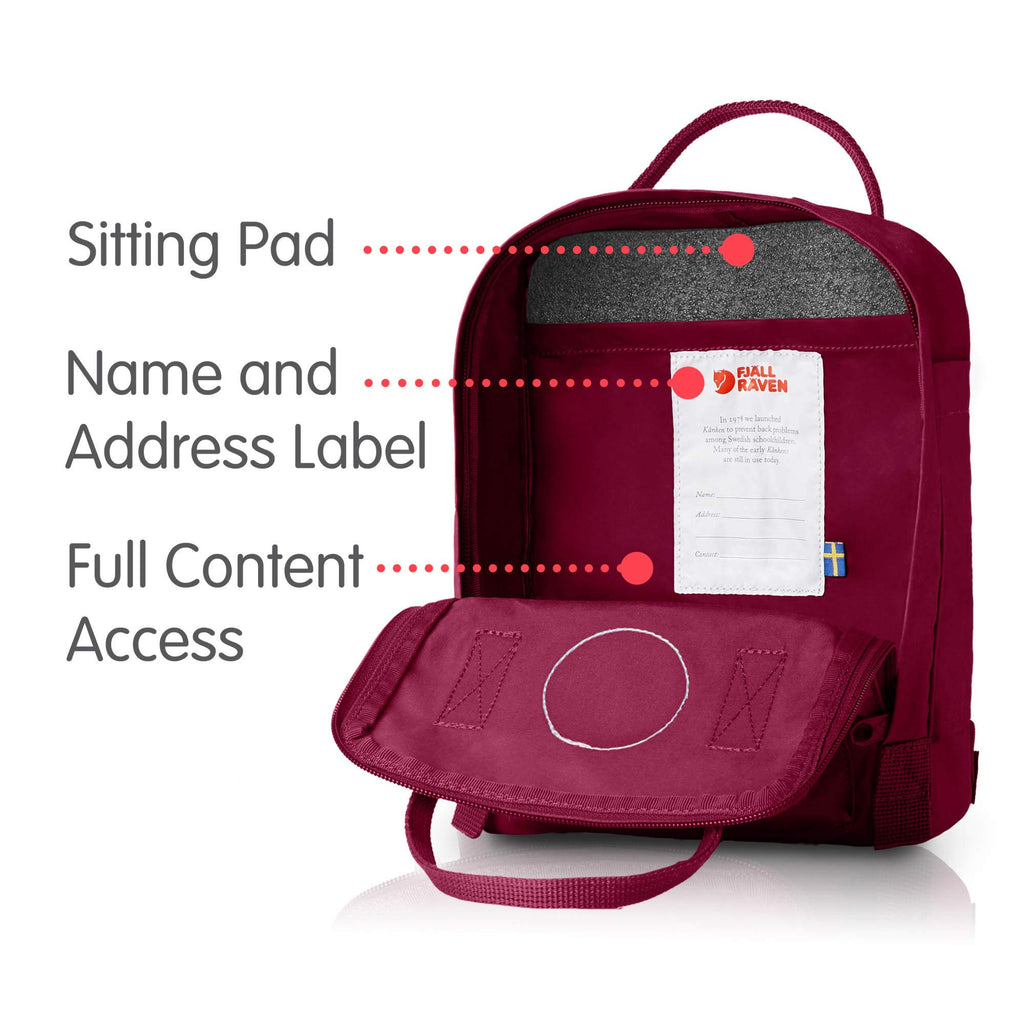 Fjallraven - Kanken Mini Classic Backpack for Everyday, Plum - backpacks4less.com