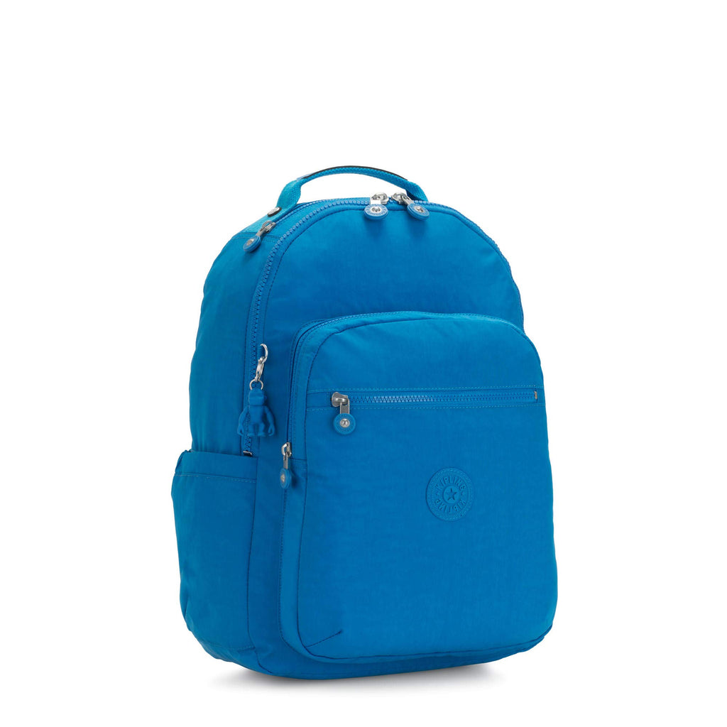 "Kipling Seoul Large 15"" Laptop Backpack Methyl Blue - backpacks4less.com"