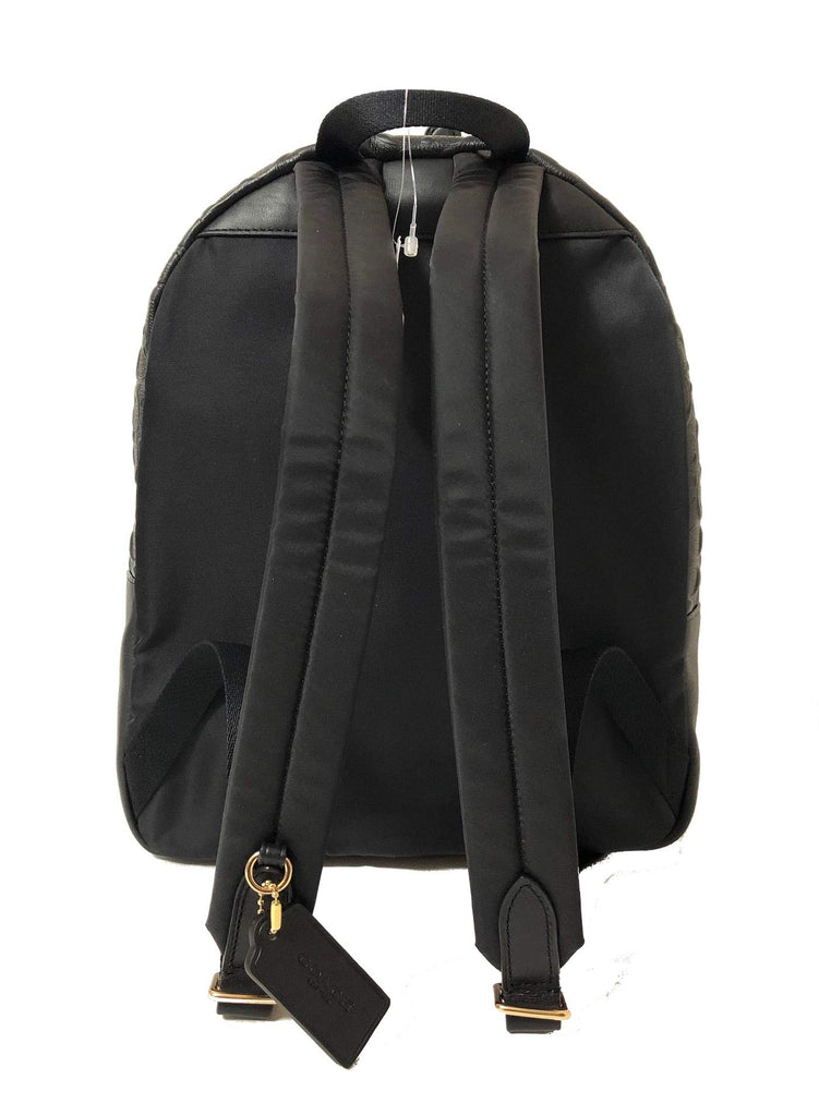 Coach F30550 Medium Charlie Backpack (IM/Black) - backpacks4less.com