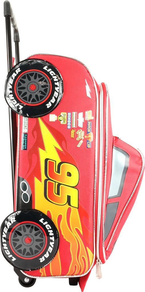 Disney Pixar Cars 2 Rolling Lightning McQueen Luggage Suitcase - backpacks4less.com
