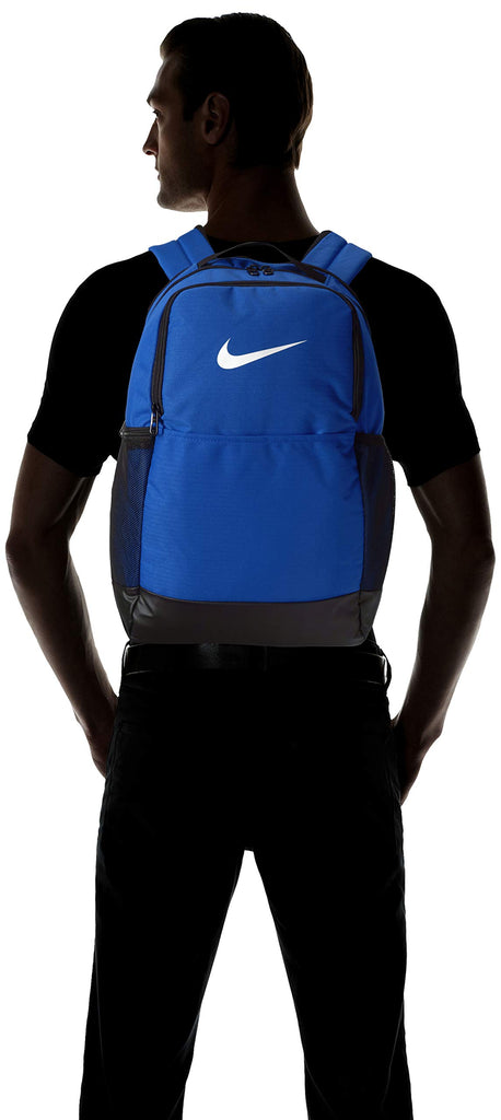 Nike Brasilia Medium Training Backpack, Nike Backpack for Women and Men with Secure Storage & Water Resistant Coating, Game Royal/Black/White - backpacks4less.com