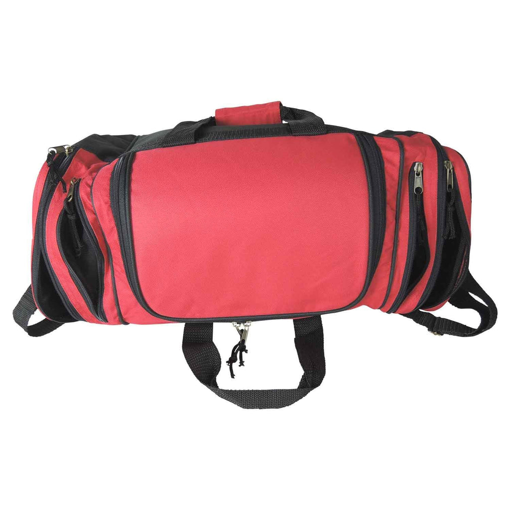 Dalix 20 Inch Sports Duffle Bag with Mesh and Valuables Pockets, Red - backpacks4less.com