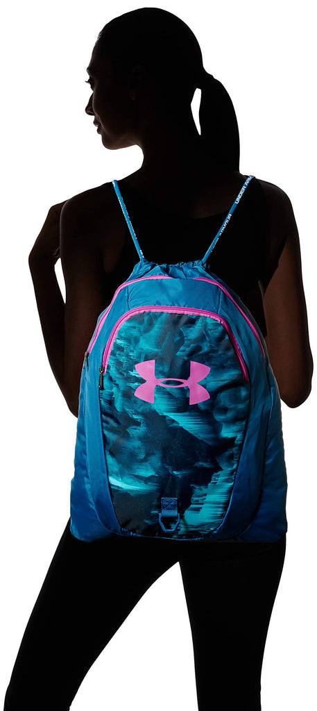 Under Armour Undeniable 2.0 Sackpack, Teal Vibe (417)/Optic Purple, One Size Fits All - backpacks4less.com