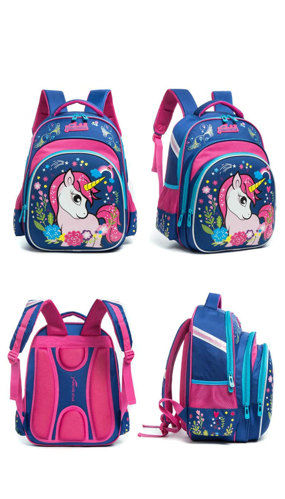 Meetbelify Big Kids Unicorn School Bags For Girls Elementary School Backpack Out Door Day Pack - backpacks4less.com