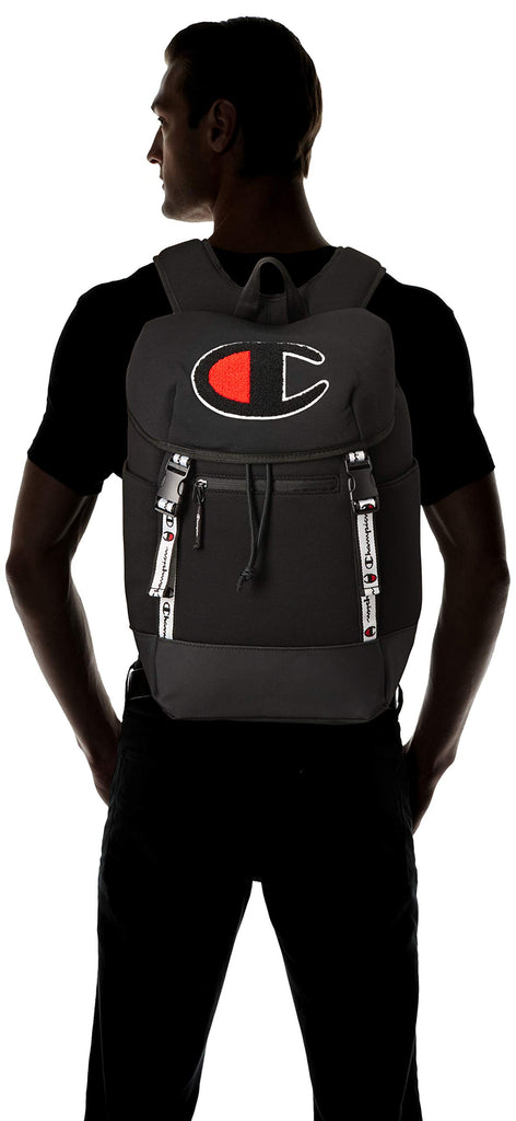 Champion Men's Top Load Backpack, Black, One Size - backpacks4less.com