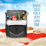 Backpack Cooler Backpack Insulated, Hiking backpack coolers, travel backpack Great soft cooler bag for Backpacking, camping, picking bag, beach bag, lunch bag for women and men, 20 cans Black Backpack - backpacks4less.com
