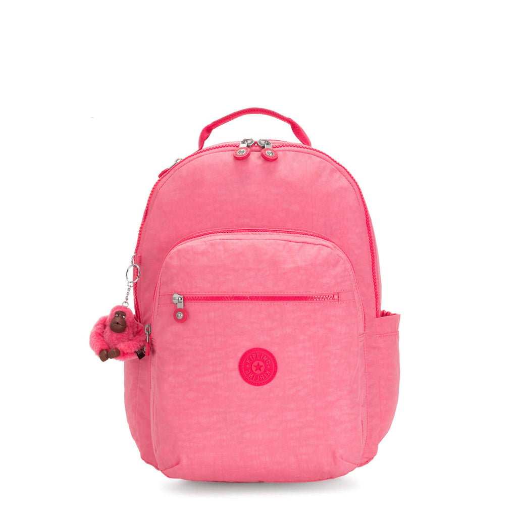"Kipling Seoul Large 15"" Laptop Backpack Fiesta Pink - backpacks4less.com"