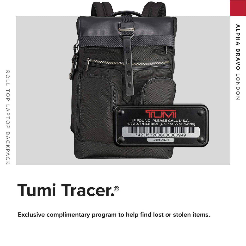TUMI - Alpha Bravo London Roll Top Laptop Backpack - 15 Inch Computer Bag for Men and Women - Black - backpacks4less.com